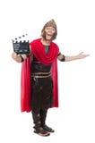Gladiator z clapboard odizolowywającym na bielu Obraz Royalty Free