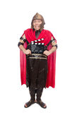 Gladiator z clapboard odizolowywającym na bielu Zdjęcia Royalty Free