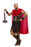 Gladiator z młotem odizolowywającym na bielu Zdjęcie Royalty Free