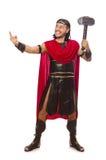 Gladiator z młotem odizolowywającym na bielu Obraz Royalty Free