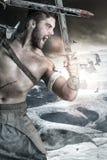 Gladiatora, barbarzyńcy wojownik/ obrazy royalty free