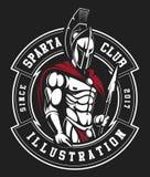 Gladiatora emblemat ilustracja wektor