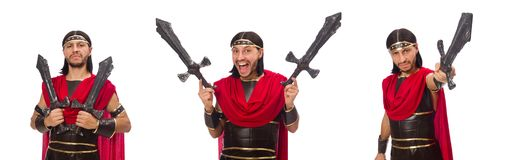 Gladiatora mienia kordzik odizolowywający na bielu Zdjęcie Royalty Free