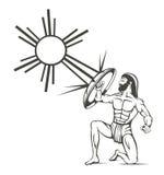 Gladiatore antico Immagini Stock