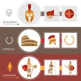 Gladiatore Banner Set Fotografia Stock