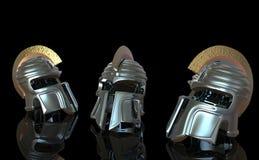 Gladiatore del casco Fotografia Stock