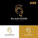 Gladiatore Logo/affare Logo Idea di progettazione vettore dell'icona Fotografia Stock