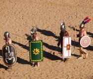 Gladiatorer i arenan Royaltyfri Foto