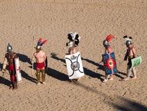 Gladiatorer i arenan Arkivbilder