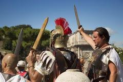 Gladiatorer i Roma Royaltyfri Foto