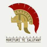 Gladiatorhelm, Roman legionair - vector Royalty-vrije Stock Afbeelding