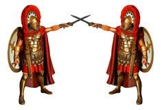 Gladiatori di combattimento Fotografia Stock Libera da Diritti