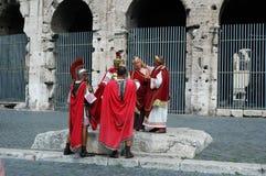 Gladiatori, donna e Dominus Fotografia Stock