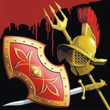 Gladiators εξοπλισμός διανυσματική απεικόνιση