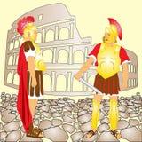 Gladiators στη Ρώμη διανυσματική απεικόνιση