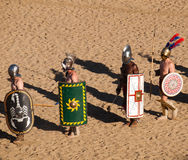 Gladiators in the arena Royalty Free Stock Photo