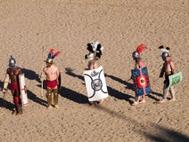Gladiators in the arena Stock Images