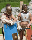 Gladiators fight at Carnuntum #2 Royalty Free Stock Photography