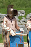 Gladiators fight at Carnuntum #1 Stock Photo