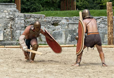 Gladiators fight at Carnuntum #3 Stock Images