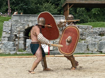 Gladiators fight at Carnuntum #4 Stock Photography