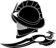 Gladiators helmet and knife Stock Image