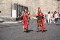 Gladiators - Rome Castel Sant Angelo Stock Images