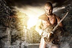 Gladiatorstrijder stock afbeelding