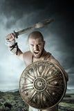 Gladiatorstrijder Stock Foto
