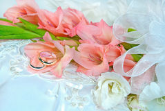 Gladiola wedding bouquet Royalty Free Stock Image