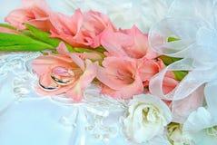 Gladiola wedding bouquet Royalty Free Stock Image
