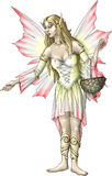 Gladioli flower fairy. Pink gladioli flower fairy girl Stock Images