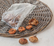 Gladiolus bulbs in  bag Stock Photos