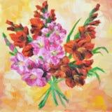 Gladiolus Kwitnie obraz wektor Zdjęcie Royalty Free