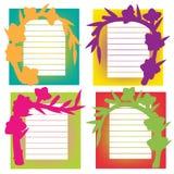 Gladiolus Shadows on paper Royalty Free Stock Photos