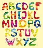 Gladlynt alfabet Royaltyfri Fotografi