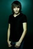 Gladlynt asiatisk ung man Royaltyfria Bilder