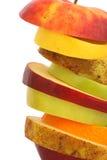 gladlynt blandade fruktfrukter Fotografering för Bildbyråer