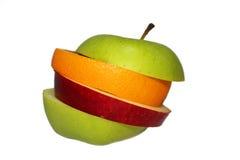 gladlynt blandade fruktfrukter Arkivfoton