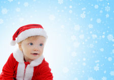 gladlynt claus för pojke hatt santa Royaltyfri Bild