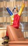 gladlynt clown Royaltyfri Foto