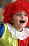 gladlynt clown Arkivbilder