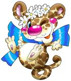 gladlynt da-leopard arkivfoton