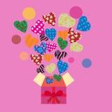Gladlynt dekorativ modell med hjärta Royaltyfria Bilder