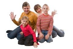 gladlynt familj royaltyfria bilder