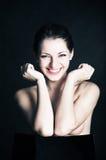 gladlynt flicka fotografering för bildbyråer