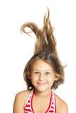 gladlynt flicka little Arkivfoto