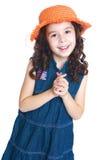 gladlynt flicka little Fotografering för Bildbyråer