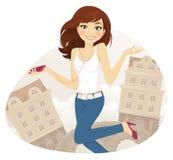 Tonårs- flicka royaltyfri illustrationer