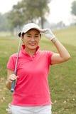 Gladlynt golfspelare Royaltyfria Foton